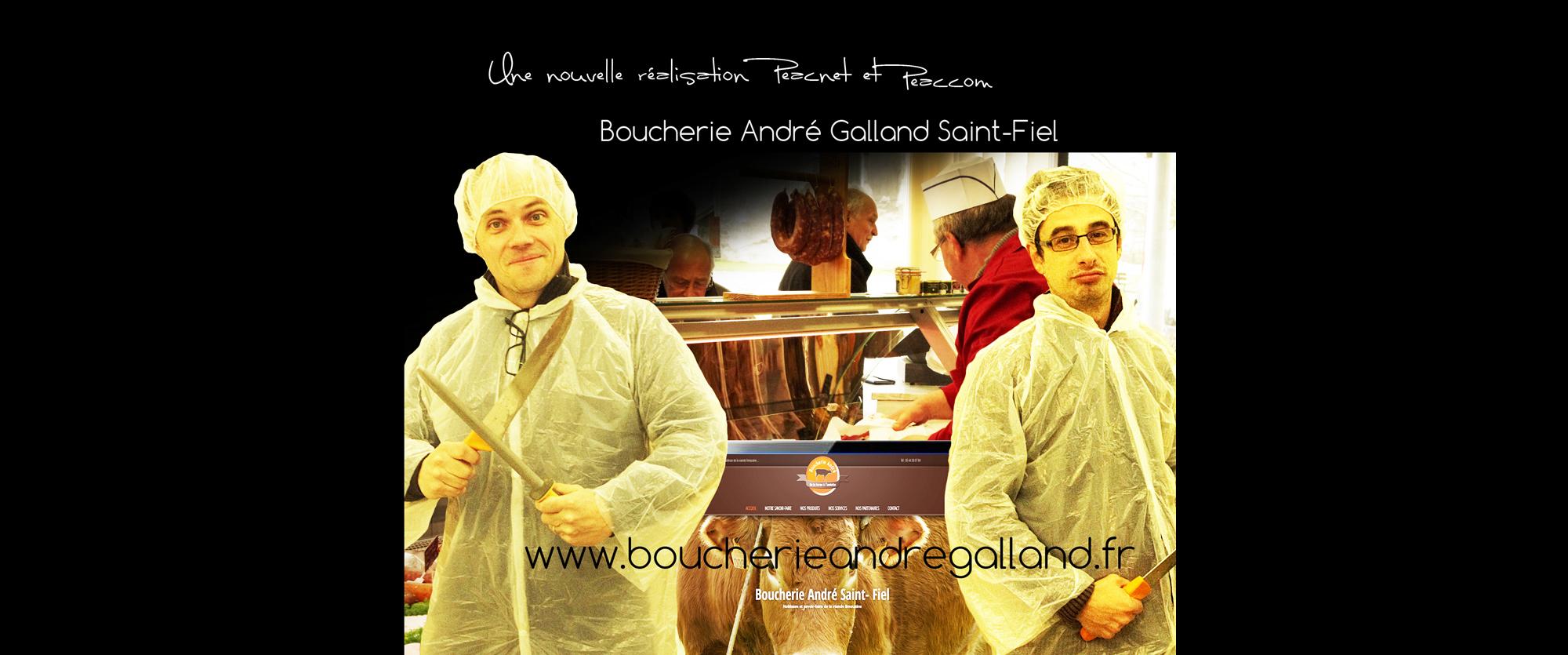 Dernière réalisation de Peacnet & Peaccom: site internet pour la Boucherie André à Saint-Fiel (Creuse)